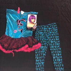 Valley girl costume w/Purple Wig